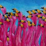 """Pink Flamingos"" by artbypatti"