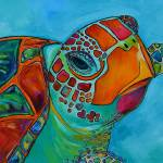 """Seaglass Sea Turtle"" by artbypatti"
