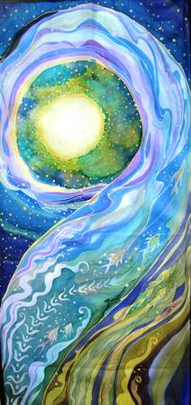 Healing Waters Encircle the Moon