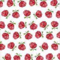 Red Roses in Rows