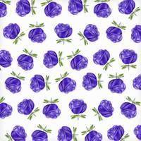 Purple Roses in Rows