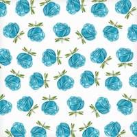 Blue Roses in Rows