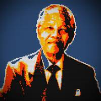 Nelson Mandela Lego Pop Art