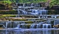 Cascading Waterfall, Yorkshire Dales, United Kingd