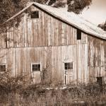 """Old Barn in Sepia"" by KsWorldArt"