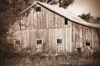 Old Barn in Sepia
