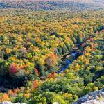 """Porcupine Mountains Carp River Valley in Autumn"" by sterk"