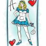 """2-24-14 Alice Of Wonderland Card Finished"" by artinthegarage"