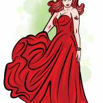 """2-21-14 Lady In Red Finished"" by artinthegarage"