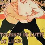 """Reproduction of a poster advertising a wrestling t"" by fineartmasters"