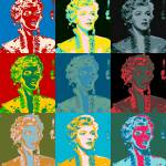 """Young Marilyn 3x3 multicolor"" by lensnation"