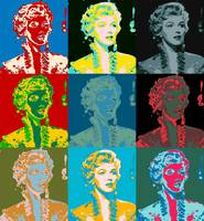 Young Marilyn 3x3 multicolor