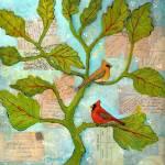 """Cardinal Love Notes"" by BlendaStudio"