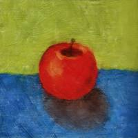 Apple with Green and Blue