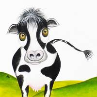 Whimsical Cow