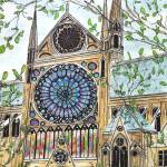 """notre dame rosewindow"" by FradetFineArt"