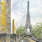 """palais de chaillot"" by FradetFineArt"