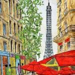 """parisstreets2"" by FradetFineArt"