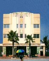 Hotel and Umbrella, Miami Beach FL