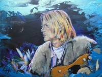 Kurt Cobain - blue