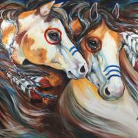 BRAVEHEARTS INDIAN WAR HORSES Art Prints & Posters by Marcia Baldwin