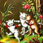 """3 kittens playing in the garden"" by bandtdigitaldesigns"