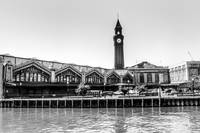 Hoboken Terminal Clock Tower  BW