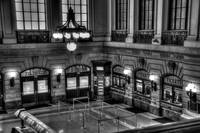Hoboken Terminal Waiting Room BW