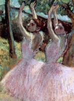 Dancers in violet dresses