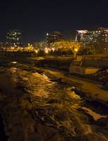 Confluence Park Rapids at Night