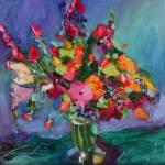 """""""bouquet de fleurs"""" by jacquelinebrewerart"""