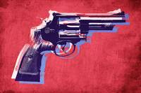 Magnum Revolver on Red