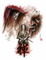 Deamons-of-mind-samurai-meditation-artwork