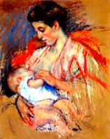 Mother Jeanne nursing her baby