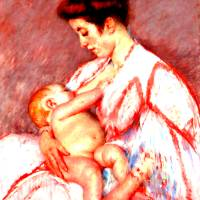 """Baby John Being Nursed"" by bandtdigitaldesigns"