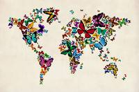 Butterflies Map of the World