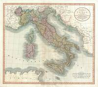 Vintage Map of Italy (1799)