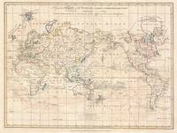 Vintage Map of The World (1799)