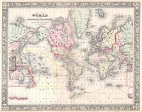 Vintage Map of The World (1864)