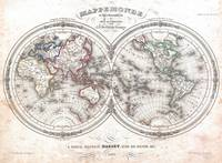 Vintage Map of The World (1848)