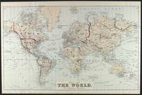 Vintage Map of The World (1875)