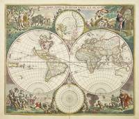 Vintage Map of The World (1680)