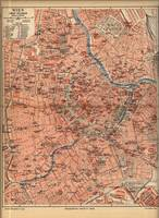 Vintage Map of Vienna Austria (1920)