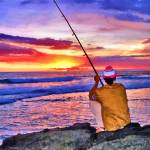 """Fishing at sunset"" by who"