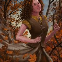 Spirit of Autumn Woman Art Prints & Posters by Martin Davey