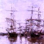 """The Port 1886  by Eugene Boudin Restored Enhanced"" by TheNorthernTerritory"