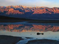 Badwater Springs at Sunrise, Death Valley National