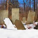 """Gravestones in a Rural NY Cemetery in Winter (Dram"" by FingerLakesPhotos"
