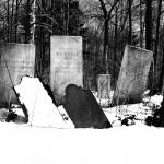 """Gravestones in a Rural, NY Cemetery in Winter (Bla"" by FingerLakesPhotos"