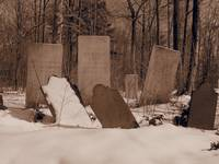 Old Gravestones in Winter (Sepia)